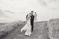 Candid shot of bride