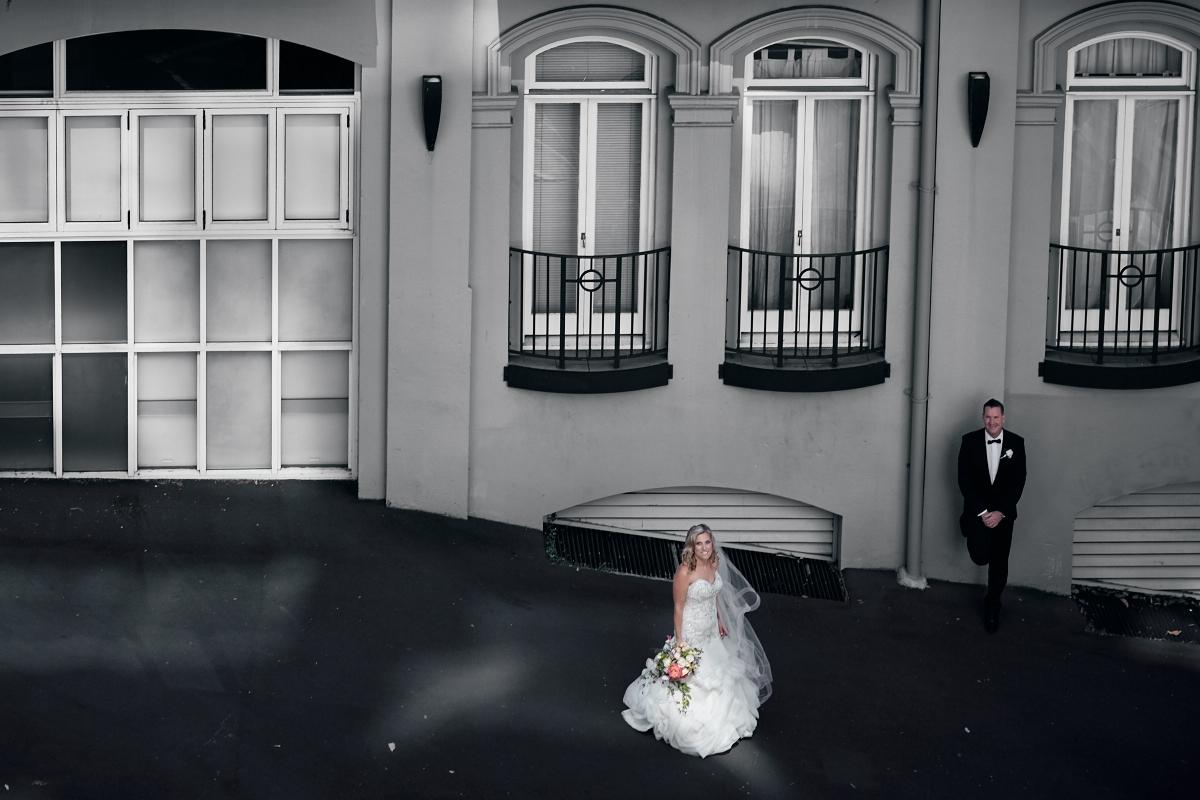 bride in street