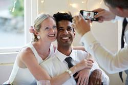 candid wedding photograph