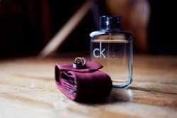 wedding ring and perfume