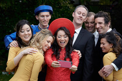 wedding selfie colourful