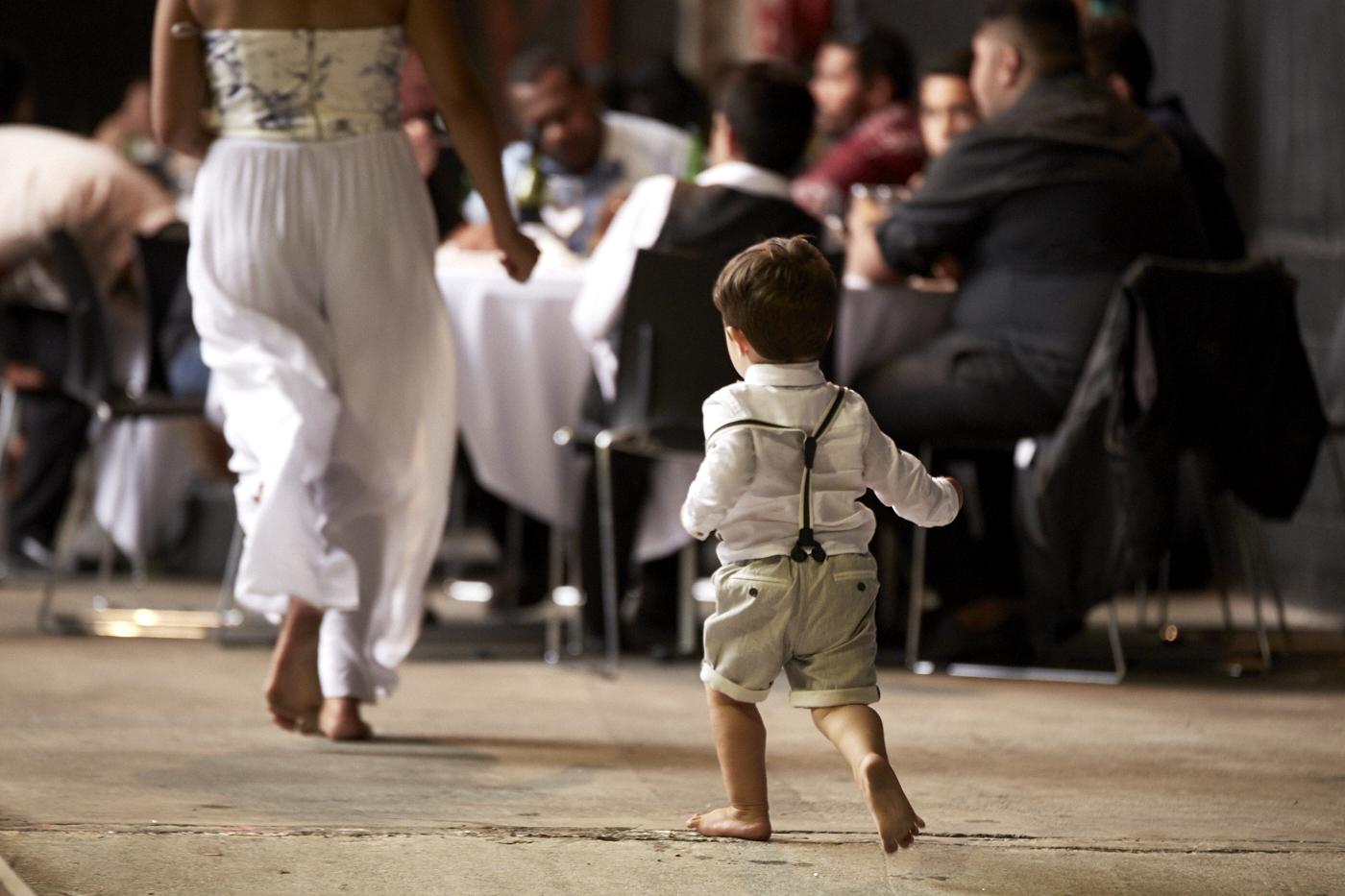 kid at wedding