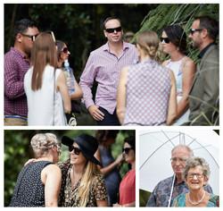 guests mingling at wedding