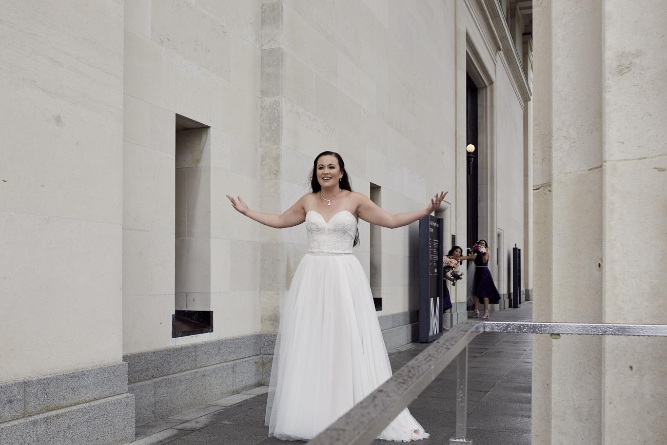 bride at museum