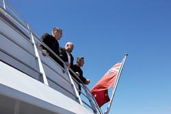groom on boat