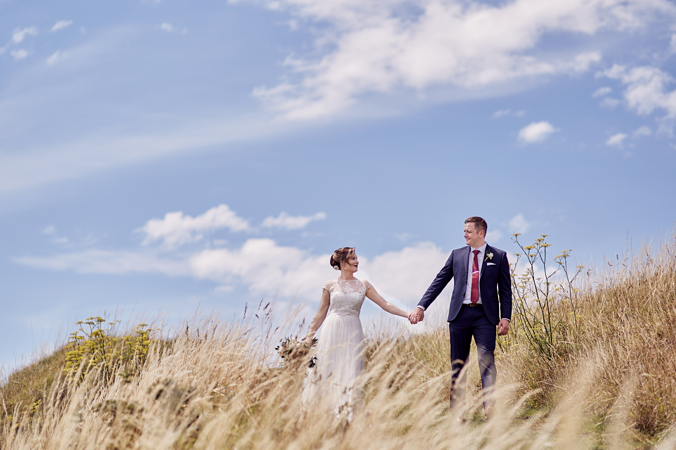 Long grass wedding photographer