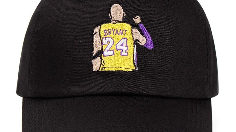 Kobe Bryant 24th 100% Cotton Dad Hat Black Mamba