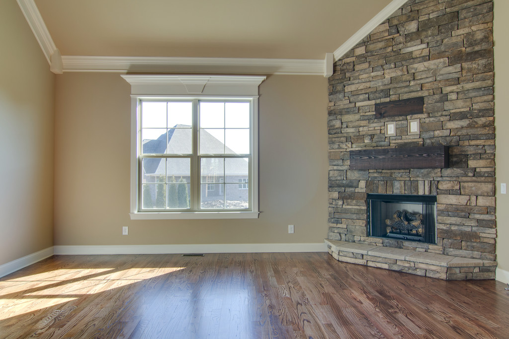 family room fireplace-trim work Lot 310