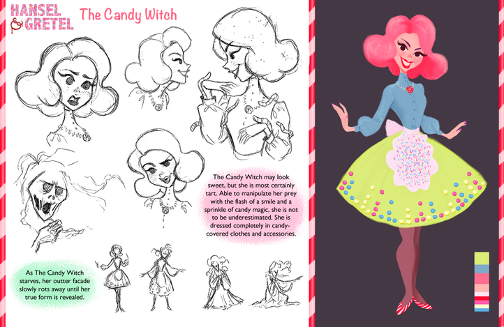 Hansel & Gretel Vis Dev Project - The Candy Witch