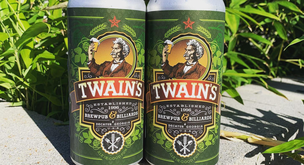 Twain's Beer Can Labels