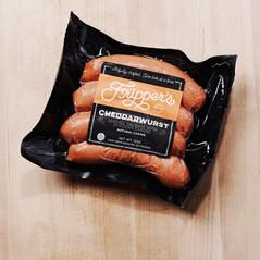 retail packaging: cheddarwurst