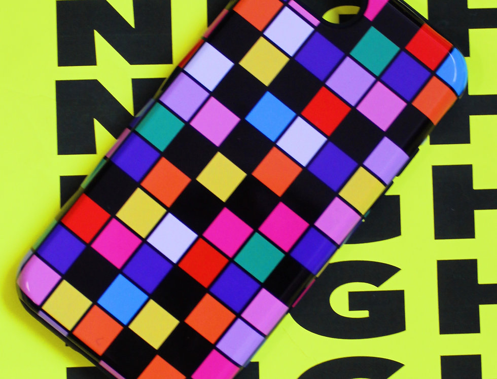 MULTI CHECKERBOARD PHONE CASE