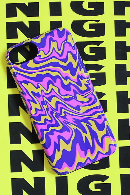 TRIPPY PHONE CASE - blu/ylw/pnk