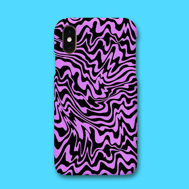 TRIPPY PHONE CASE - LILAC/BLK