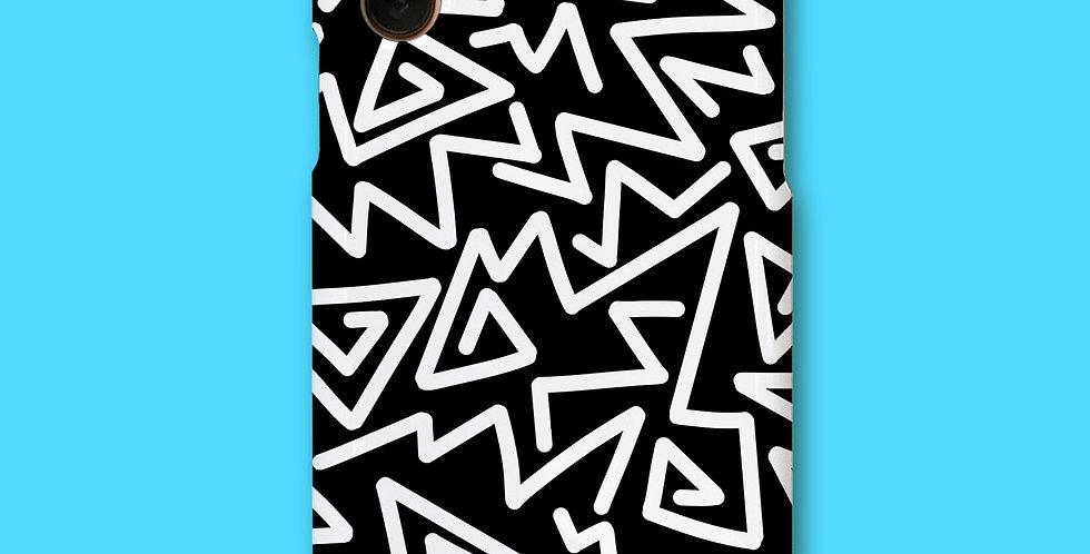ZIGZAG PHONE CASE - BLACK&WHITE