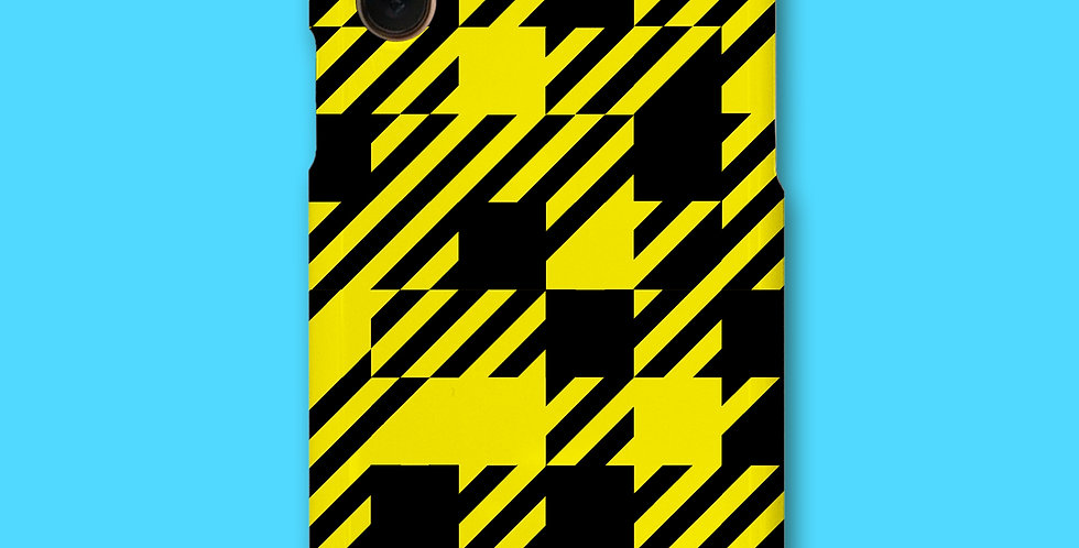 CHECK PHONE CASE - YLW/BLK