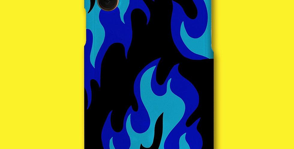 FLAME PHONE CASE - BLU/BLK