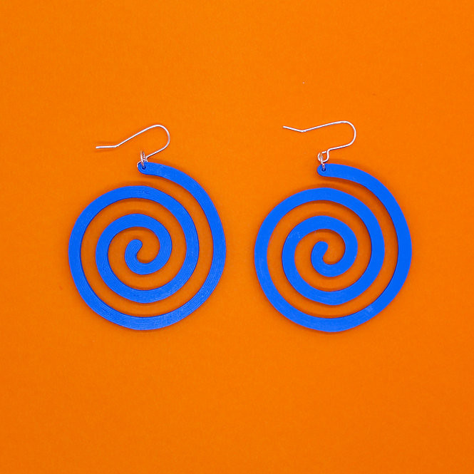 BLUE SWIRL *ECO* EARRINGS