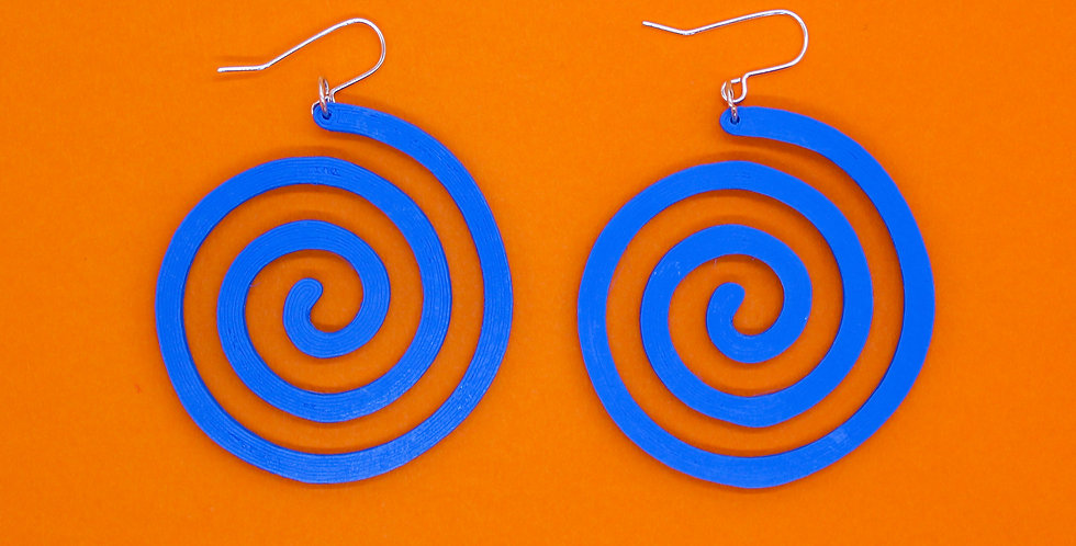 BLUE SWIRL *ECO* EARRINGS