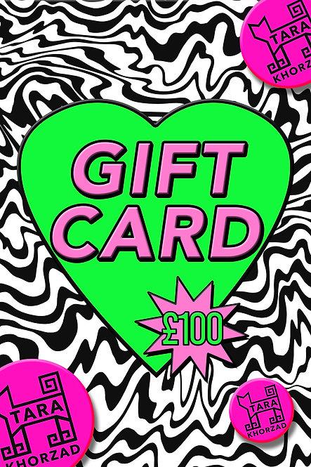 GIFT CARD - £100
