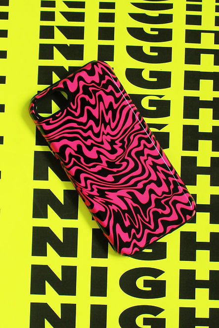 TRIPPY PHONE CASE - blk/pnk