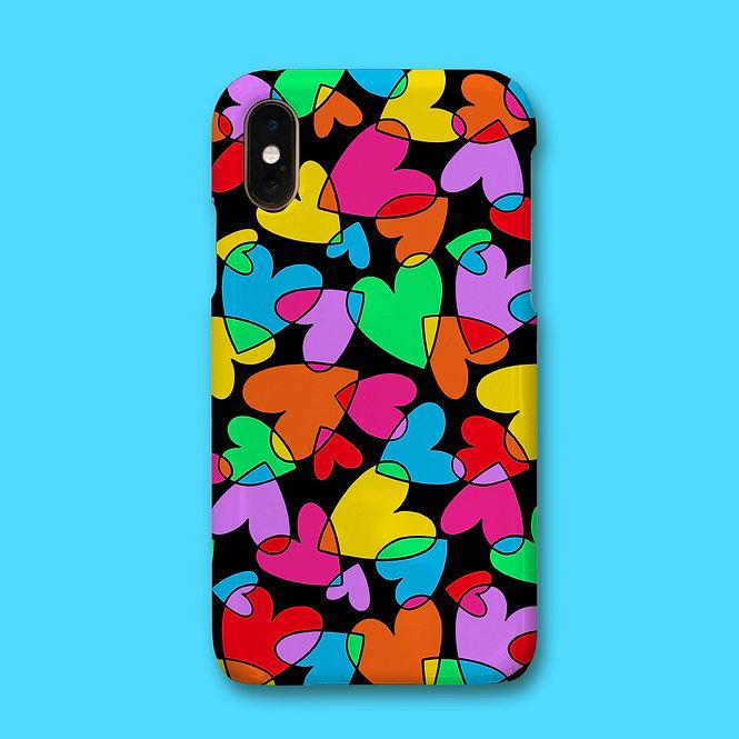 MULTI HEART PHONE CASE