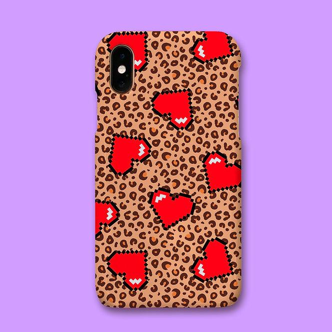 LEOPARD HEART PHONE CASE