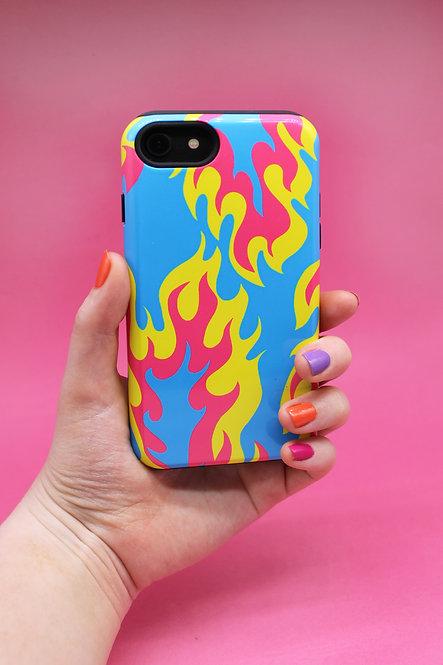 FLAME PHONE CASE-blau