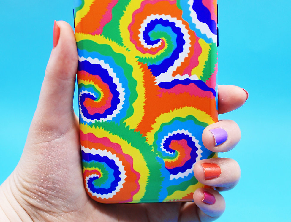 RAINBOW SWIRL PHONE CASE