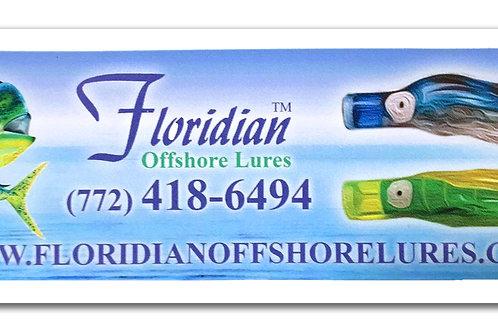Floridian Offshore Lures Bumper Sticker