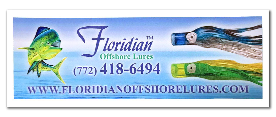 Floridian Offshore Lures Bumper Sticker