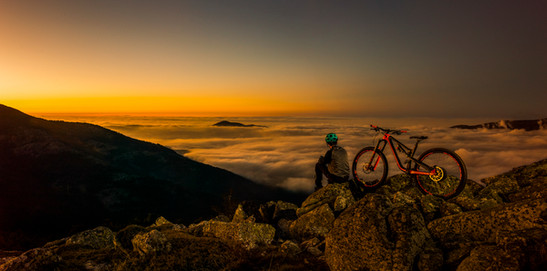 Mountainbike in San Rafael, Spain