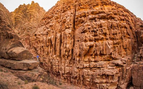 Trekking in Wadi Rum, Jordan