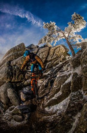 Mountainbike in El Espinar, Spain