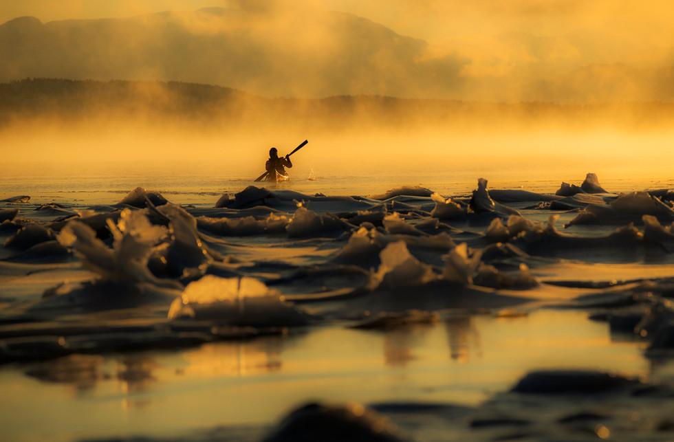 Canoe en Senja, Norway