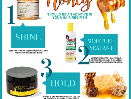 Top 3 reasons why Honey should be added in your hair regimen.Don't be fooled, honey not only heals