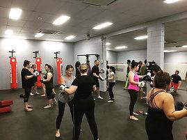 Cardio boxing at Kickstart...class is pu