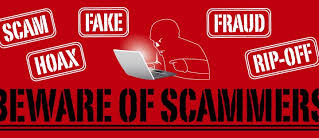 Be Aware of Scammers!