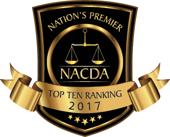 Michael F. Niznik awarded as a TOP 10 UNDER 40 ATTORNEY by the National Academy of Criminal Defense