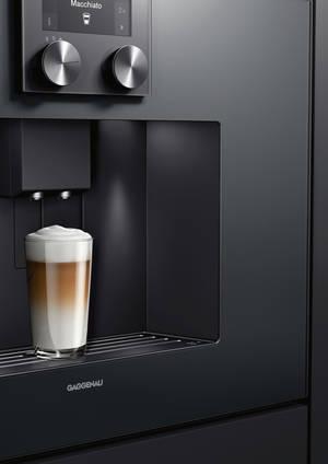 schwarzer Gaggenau Einbau Kaffeevollautomat