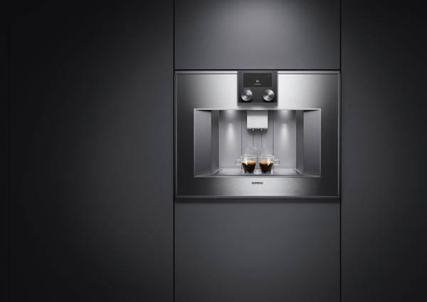 Grauer Gaggenau Einbau Kaffeevollautomat