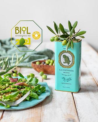 La Cultivada Organic EVirgin olive oil. Quintaesencia -500ml