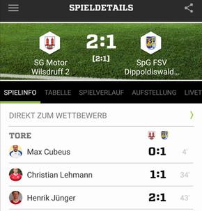 Kreisliga A Spieltag 5: SG Motor Wilsdruff 2 - SpG FSV Dippoldiswalde/Reinhardtsgrimma 2:1 (2:1)