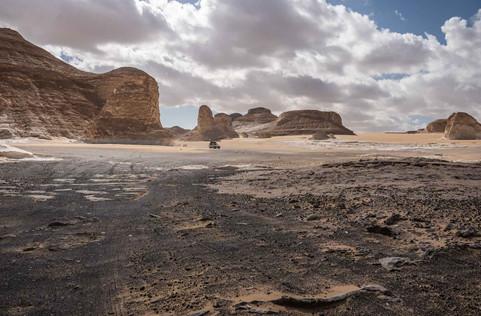 Schwarze Wüste bei Bahariyya