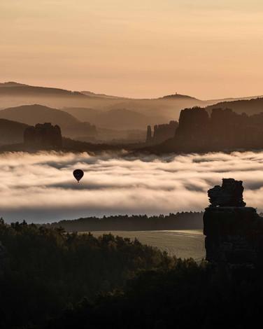 Ballonfahrt in der Sächsischen Schweiz