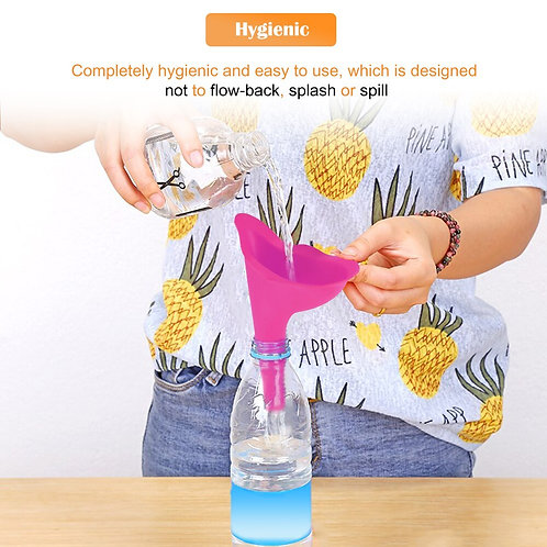 High Quality Portable Women Urine Pink Device Funnel Urinal Female Travel Urination