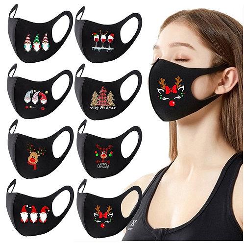 Christmas Ornaments Cartoon Print Mask Christmas Face Mask Party Supplies 2021