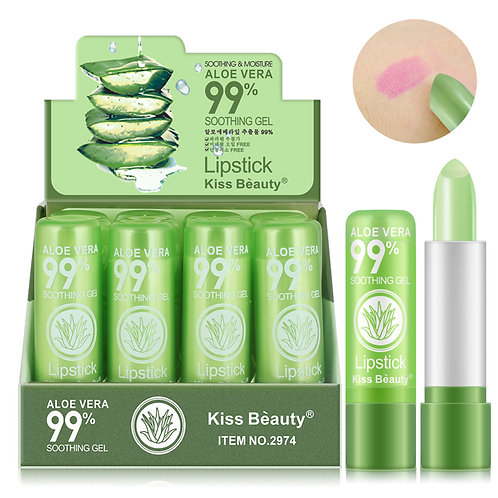 3.5g Matte Lipstick Aloe Vera Color Changing Lipstick Lip Moisturize
