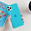 Neon Fluorescent Solid Blue Color Phone Case for iPhone 11 Pro Max XR X XS Max 7 Case
