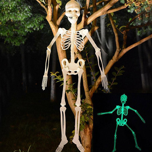 halloween-celebration halloween skeleton decorative item halloween party 2020 white colour/color